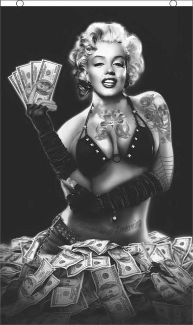 Marilyn Monroe Money Shot Fly Flag