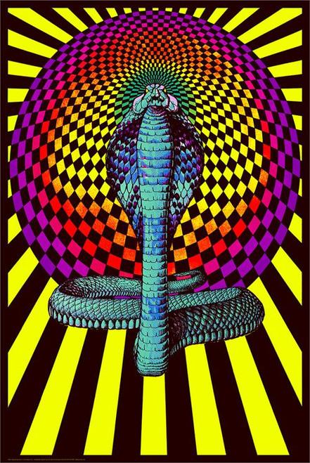 """Spellbound Cobra - Non Flocked Blacklight Poster - 24"""" X 36"""""""