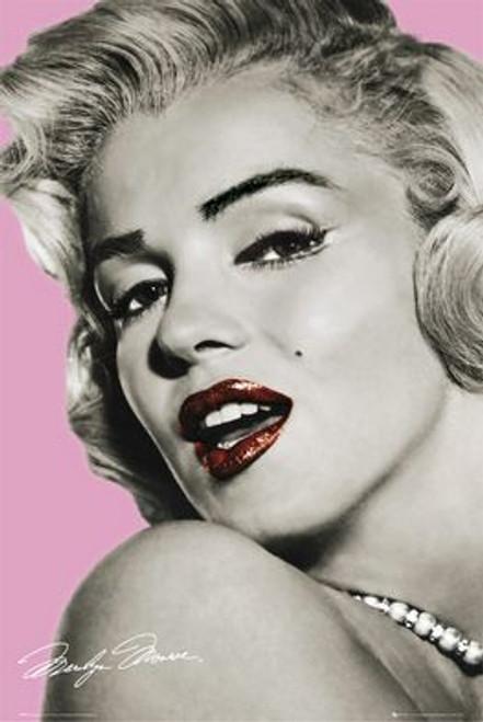 "Marilyn Monroe Lips Poster - 24"" X 36"""