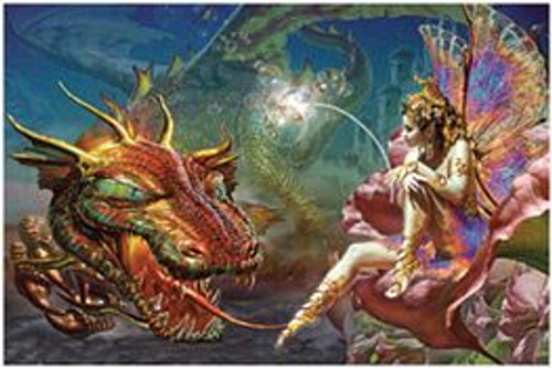 "Dragon's Dream & Fairy  - Poster - 36"" X 24"""