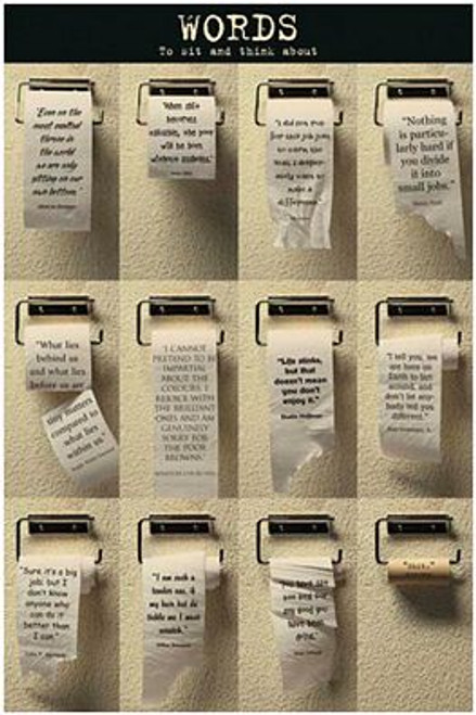 """Words To Think About Poster - 24"""" X 36"""""""