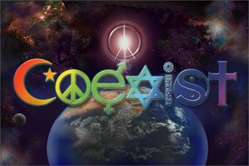 "Coexist Multicolor Poster - 36"" X 24"""