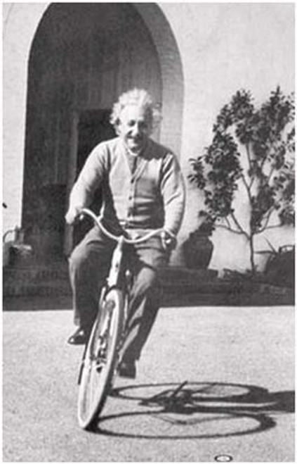 """Albert Einstein Bike - Poster - 24"""" X 36"""""""