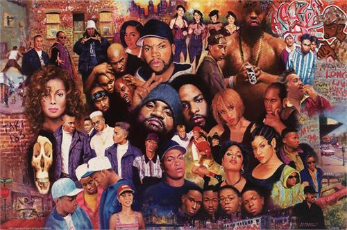 "Legends Of Rap Poster - 24"" X 36"""