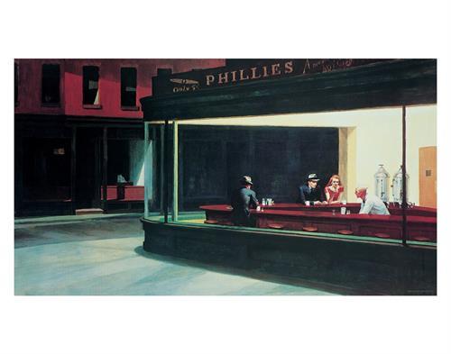 """Edward Hopper - Night Hawks - 22 x 28"""""""