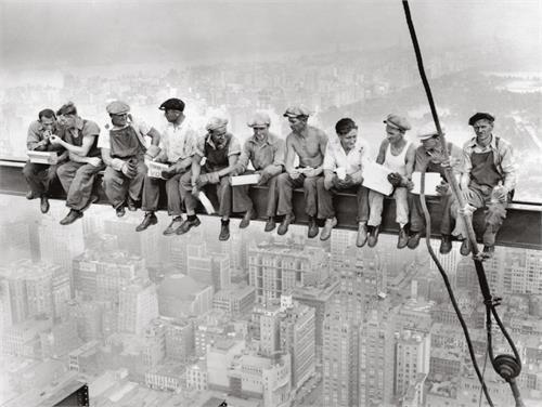 """Men on Beam Rockefeller Center - 18"""" X 24"""""""