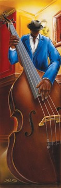 "Jazz Iii Bass Slim Print By: Magrini - 12"" X 36"""