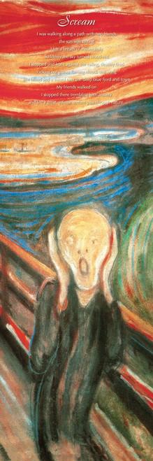 """Munch - The Scream Slim Print - 12"""" X 36"""""""