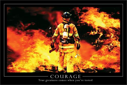 """Courage Poster - 24"""" X 36"""""""