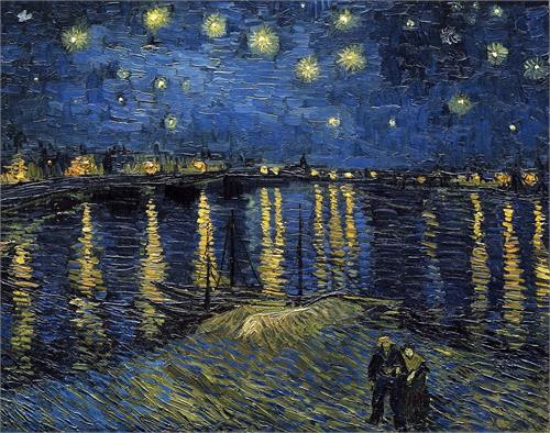 "Van Gogh Starlight over Rhone Mini Poster - 11"" X 14"""
