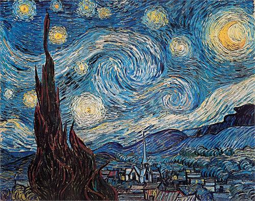 "Van Gogh Starry Night Mini Poster - 11"" X 14"""