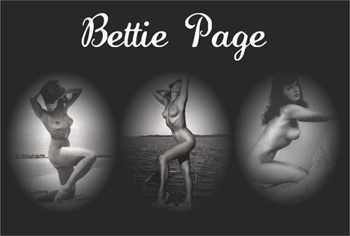 "Bettie Page  Triptech Poster - 36"" X 24"""