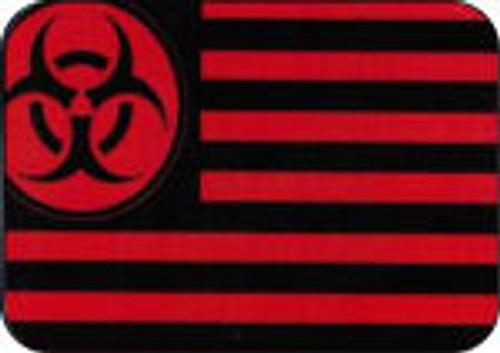 """Biohazard Flag Large Sticker - 2 1/2"""" X 3 3/4"""""""