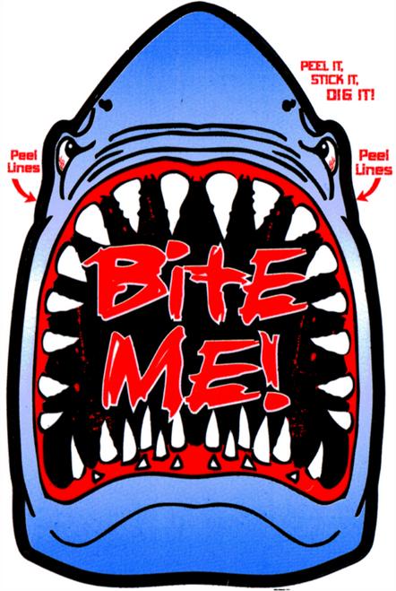 "Bite Me - Large - 3"" X 5"" - Sticker"