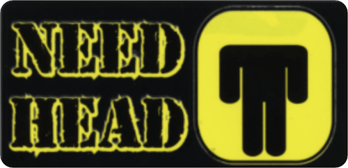 "Need Head - 3 1/2"" X 2 1/2"" - Sticker"