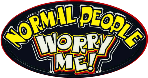 "Normal People Worry Me - 3 1/2"" X 2 1/2"" - Sticker"