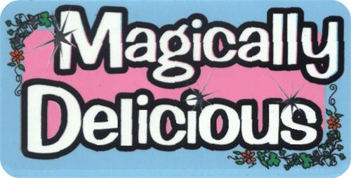 "Magically Delicious - 3 1/2"" X 2 1/2"" - Sticker"