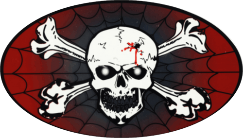 """Skull & Crossbones - Large - 3"""" X 5"""" - Sticker"""