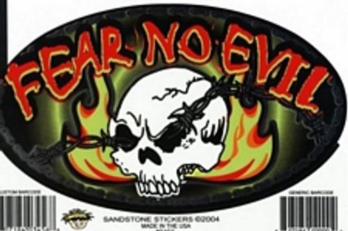 "Fear No Evil - Large - 3"" X 5"" - Sticker"