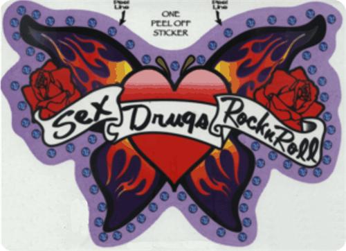 """Sex, Drugs & Rock N Roll - Large - 3"""" X 5"""" - Sticker"""