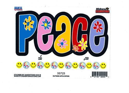 "Peace - Large - 3"" X 5"" - Sticker"