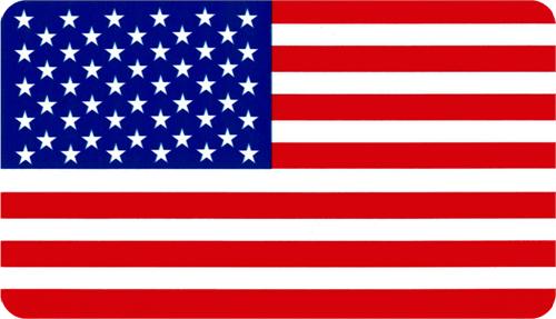"American Flag - 3 1/2"" X 2 1/2"" - Sticker"