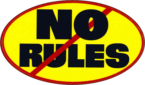 "No Rules - 3 1/2"" X 2 1/2"" - Sticker"