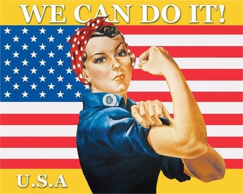 "Rosie the Riveter - We Can Do It - 16"" x 20"""