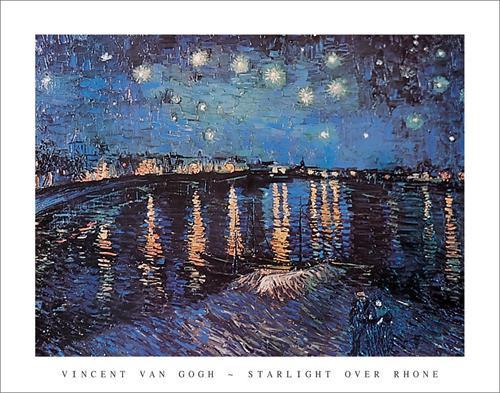 "Van Gogh - Starlight over Rhone - 22 x 28"""