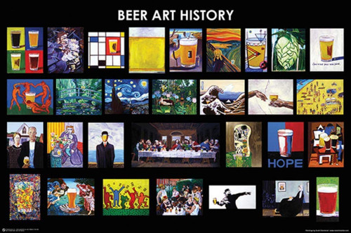 Beer Art History Poster 36x24