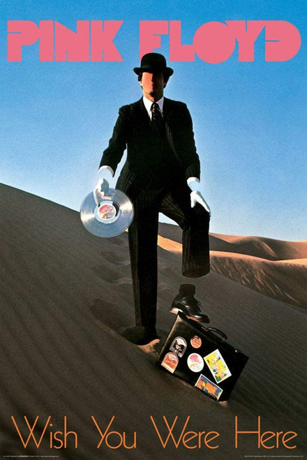 Pink Floyd - Wish You Were Here Record Man Poster 24x36 inches