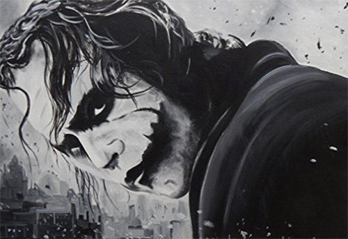 The Joker by Ed Capeau Black and White Art Print Poster 36x24