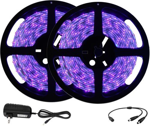 UV LED Blacklight Strip Light 10m (32.8 ft) - 600 LED - 385nm-400nm