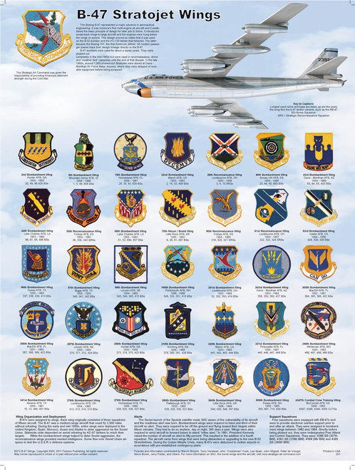 B-47 Stratojet Wings Educational Poster 18x24