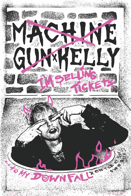 Machine Gun Kelly - Downfall Poster 24x36 inches