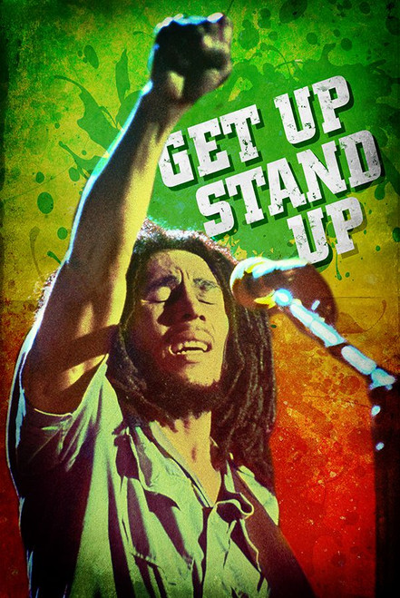"Bob Marley Get Up Stand Up Poster 24"" x 36"""