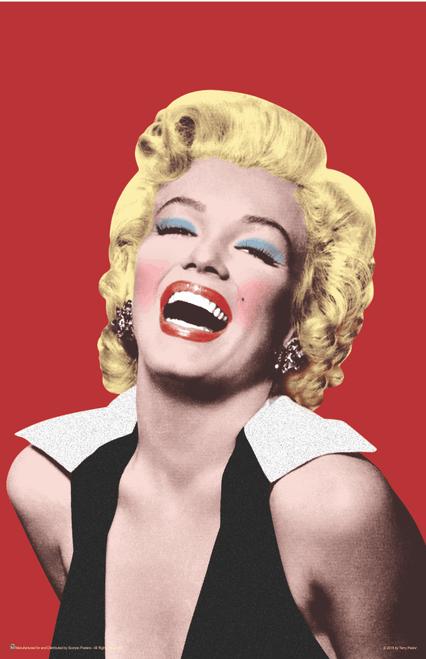 "Marilyn Monroe Red Pop Art Mini Poster- 11"" x 17"""