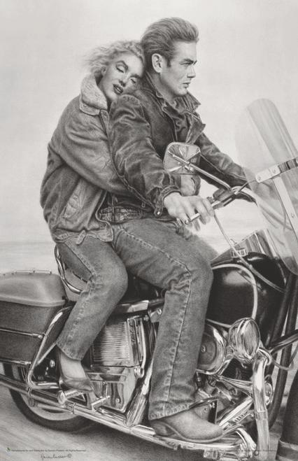 """Marilyn Monroe/James Dean Speedbound Mini Poster - 11"""" x 17"""""""