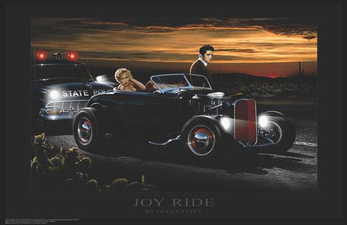 """Elvis and Marilyn - Joy Ride by Helen Flint Mini Poster- 17"""" x 11"""""""