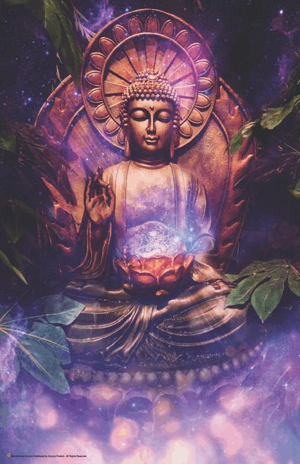 "Tranquil Buddha Art Print Mini Poster- 11"" x 17"""