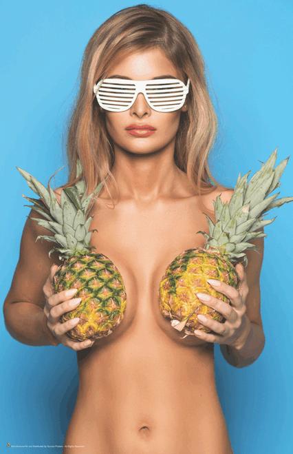 "Pineapple Girl Mini Poster - 11"" x 17"""