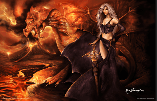 "Dragon's Keeper - by Rene Biertempfel Mini Poster - 17"" x 11"""