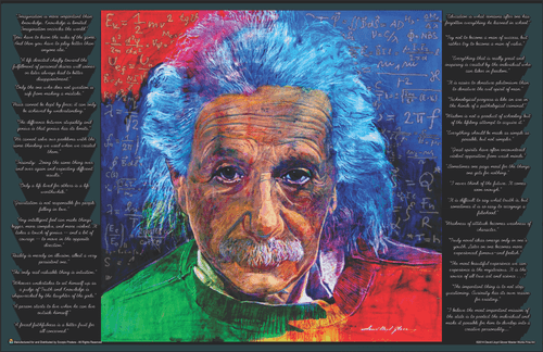 "As Quoted by Albert Einstein by David Lloyd Glover Mini Poster - 17"" x 11"""