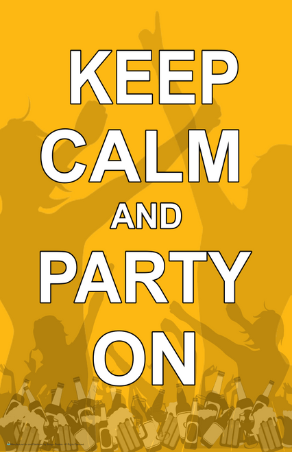 """Keep Calm & Party On Mini Poster- 11"""" x 17"""""""