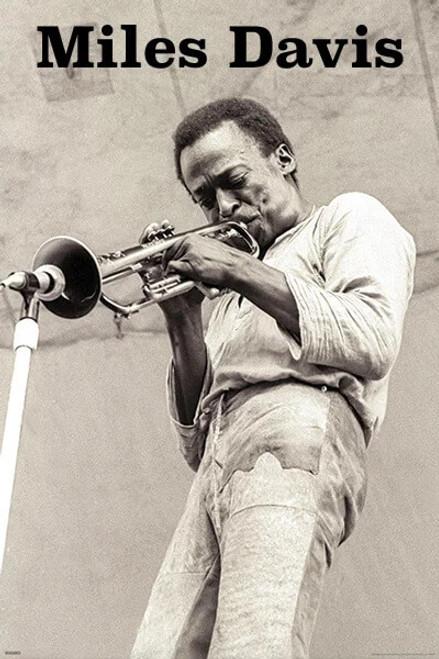 "Miles Davis - Trumpet Poster - 24"" x 36"""