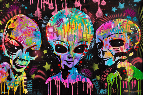"""Aliens by Dean Russo Poster - 36"""" x 24"""""""