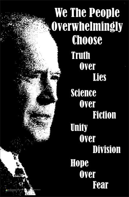 "Joe Biden We The People Mini Poster - 11"" x 17"""