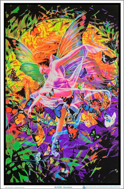 "1999 Revelation by Sheila Wolk Blacklight Poster - Flocked - 23"" x 35"""