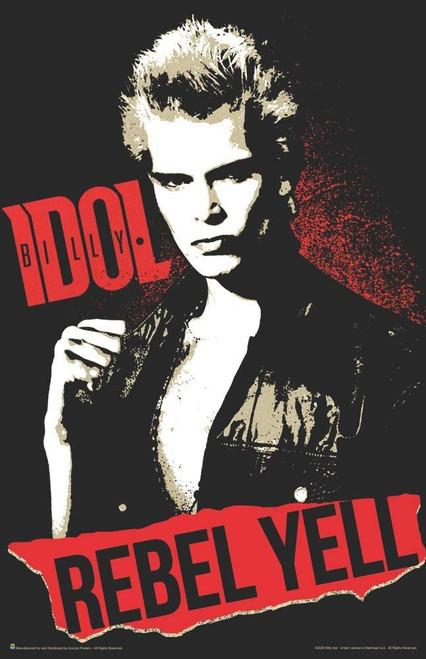 "Billy Idol Rebel Yell Mini Poster - 11"" x 17"""
