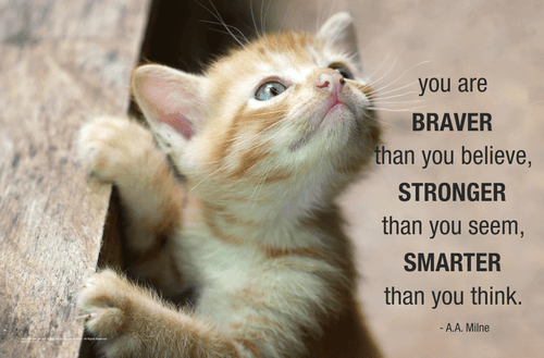 You Are Braver Mini Poster - 17x11